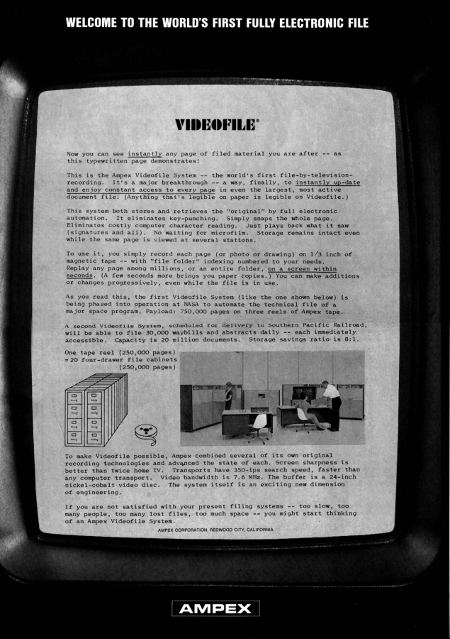 Ampex Videofile for Videophiles